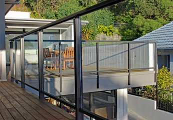 Edge Fully Framed Glass Balustrade Face Fixed large deck